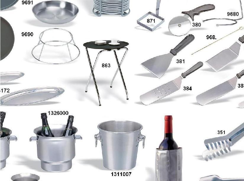 Menaje y utiles de bar buffet mesa y sala la for Utensilios de menaje